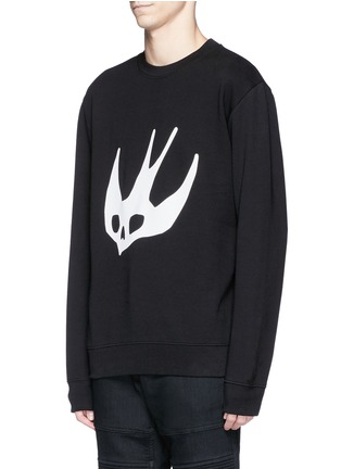 Front View - Click To Enlarge - McQ Alexander McQueen - Swallow skull print sweatshirt
