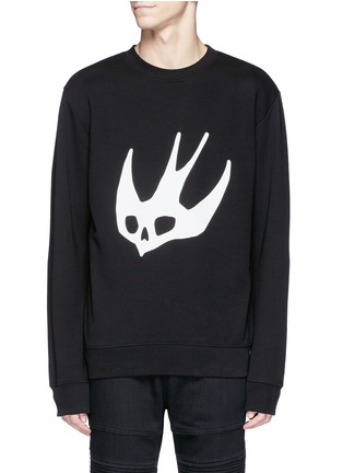 Main View - Click To Enlarge - McQ Alexander McQueen - Swallow skull print sweatshirt