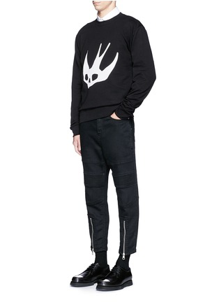 Figure View - Click To Enlarge - McQ Alexander McQueen - Swallow skull print sweatshirt
