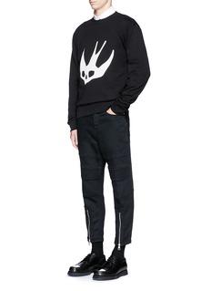 McQ Alexander McQueenSwallow skull print sweatshirt