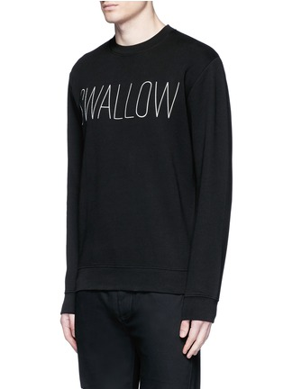 Front View - Click To Enlarge - McQ Alexander McQueen - 'SWALLOW' slogan print sweatshirt