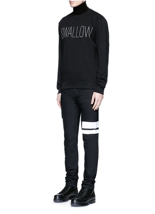 Figure View - Click To Enlarge - McQ Alexander McQueen - 'SWALLOW' slogan print sweatshirt
