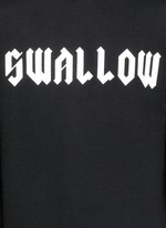 'SWALLOW' gothic print hoodie