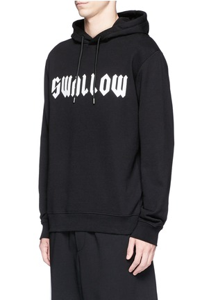 Front View - Click To Enlarge - McQ Alexander McQueen - 'SWALLOW' gothic print hoodie