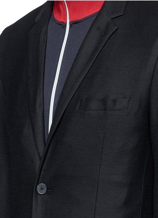 Detail View - Click To Enlarge - McQ Alexander McQueen - 'Curtis' wool piqué soft blazer