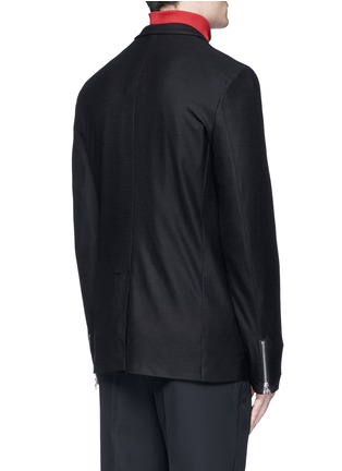 Back View - Click To Enlarge - McQ Alexander McQueen - 'Curtis' wool piqué soft blazer