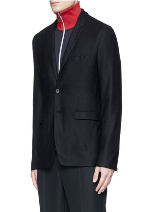 Front View - Click To Enlarge - McQ Alexander McQueen - 'Curtis' wool piqué soft blazer