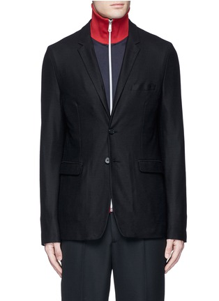 Main View - Click To Enlarge - McQ Alexander McQueen - 'Curtis' wool piqué soft blazer
