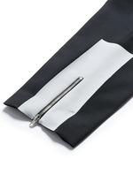 'Doherty' contrast zip cuff wool pants