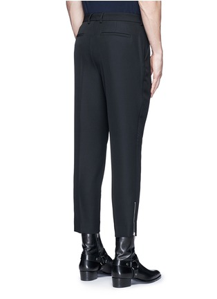 Back View - Click To Enlarge - McQ Alexander McQueen - 'Doherty' contrast zip cuff wool pants
