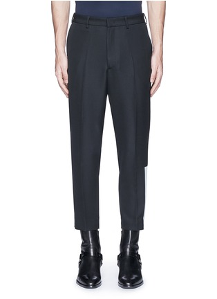 Main View - Click To Enlarge - McQ Alexander McQueen - 'Doherty' contrast zip cuff wool pants