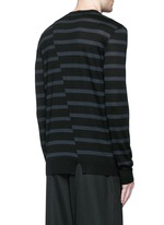 Distorted stripe wool sweater