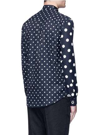 Back View - Click To Enlarge - McQ Alexander McQueen - Polka dot block print shirt