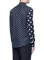 Polka dot block print shirt