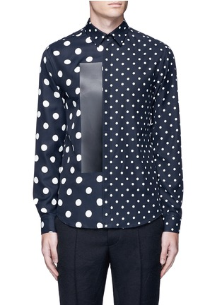 Main View - Click To Enlarge - McQ Alexander McQueen - Polka dot block print shirt