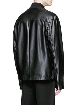Back View - Click To Enlarge - McQ Alexander McQueen - 'Haskins' slogan print lambskin leather jacket