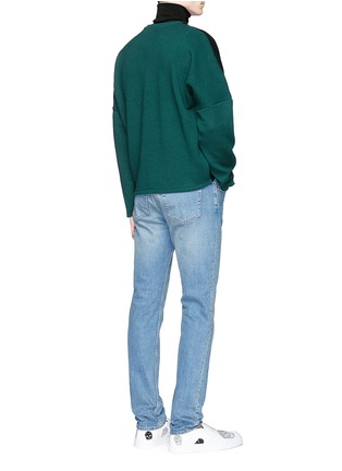Figure View - Click To Enlarge - McQ Alexander McQueen - Zip shoulder cotton blend sweatshirt