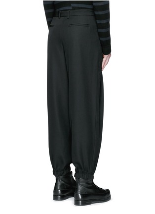 Back View - Click To Enlarge - McQ Alexander McQueen - Relaxed fit pleat front wool pants