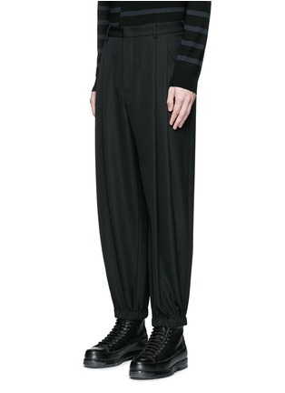 Front View - Click To Enlarge - McQ Alexander McQueen - Relaxed fit pleat front wool pants