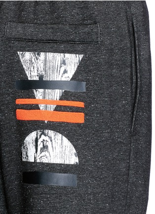 Detail View - Click To Enlarge - McQ Alexander McQueen - Woodcut block print French terry sweatpants