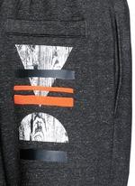Woodcut block print French terry sweatpants