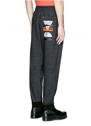 Back View - Click To Enlarge - McQ Alexander McQueen - Woodcut block print French terry sweatpants