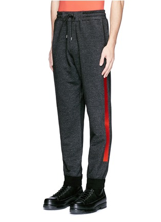 Front View - Click To Enlarge - McQ Alexander McQueen - Woodcut block print French terry sweatpants