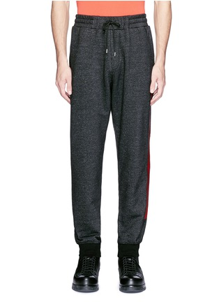 Main View - Click To Enlarge - McQ Alexander McQueen - Woodcut block print French terry sweatpants