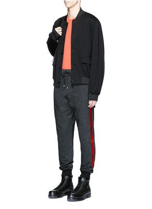 Figure View - Click To Enlarge - McQ Alexander McQueen - Woodcut block print French terry sweatpants