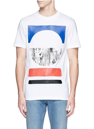 Main View - Click To Enlarge - McQ Alexander McQueen - Tribal woodcut block print T-shirt