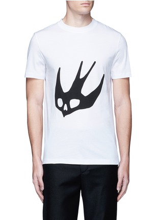 Main View - Click To Enlarge - McQ Alexander McQueen - Swallow skull print cotton T-shirt