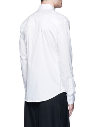 Back View - Click To Enlarge - McQ Alexander McQueen - Swallow patch harness cotton shirt