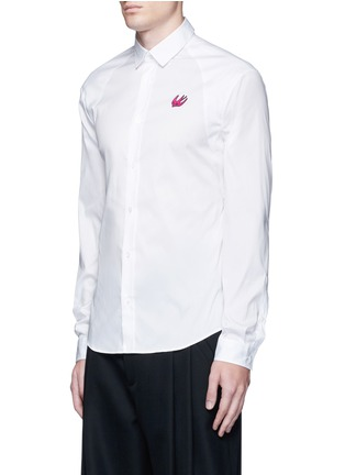 Front View - Click To Enlarge - McQ Alexander McQueen - Swallow patch harness cotton shirt