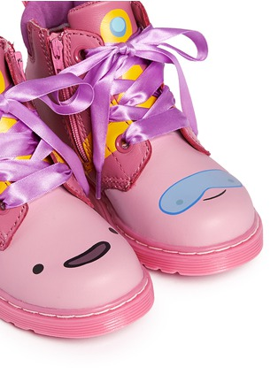Detail View - Click To Enlarge -  - 'Bonbon I' Princess Bubblegum print leather toddler boots