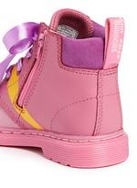 'Bonbon I' Princess Bubblegum print leather toddler boots