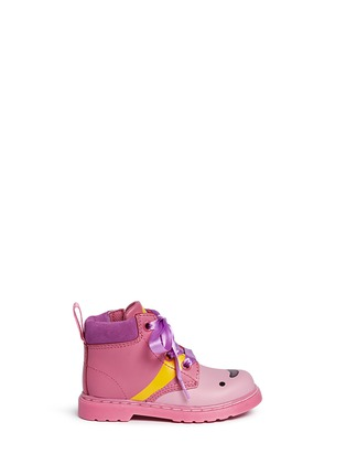 Main View - Click To Enlarge -  - 'Bonbon I' Princess Bubblegum print leather toddler boots