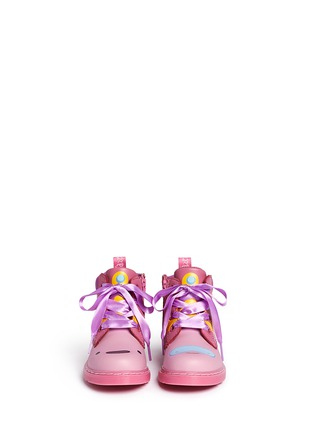 Figure View - Click To Enlarge -  - 'Bonbon I' Princess Bubblegum print leather toddler boots