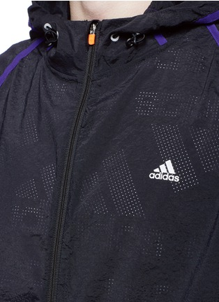 Detail View - Click To Enlarge - Adidas X Kolor - Perforated nylon hood jacket