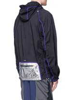 Perforated nylon hood jacket