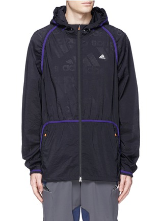 Main View - Click To Enlarge - Adidas X Kolor - Perforated nylon hood jacket