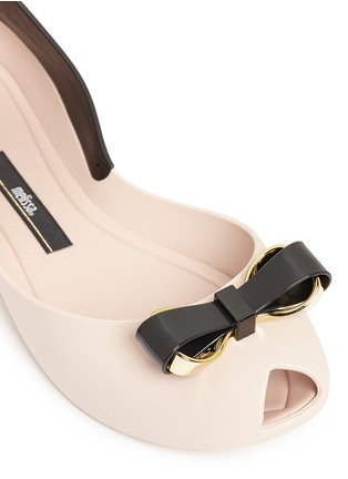 Detail View - Click To Enlarge - Melissa - 'Queen IV' peep toe PVC flats