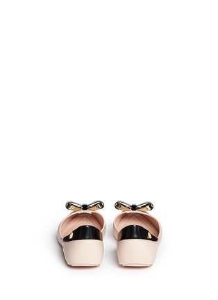 Back View - Click To Enlarge - Melissa - 'Queen IV' peep toe PVC flats