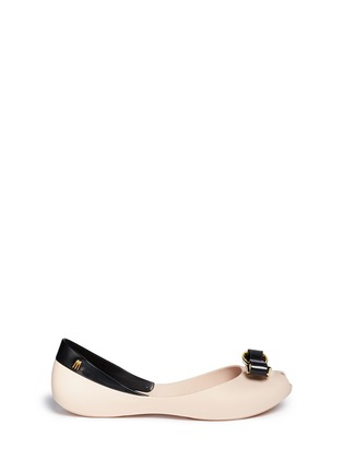 Main View - Click To Enlarge - Melissa - 'Queen IV' peep toe PVC flats