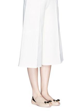 Figure View - Click To Enlarge - Melissa - 'Queen IV' peep toe PVC flats