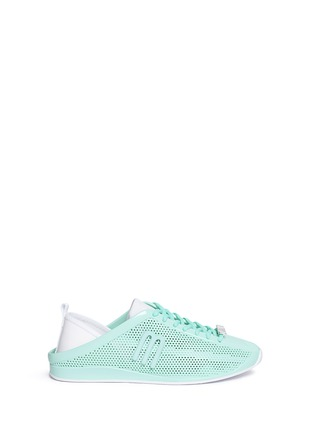 Main View - Click To Enlarge - Melissa - 'Love System Now' neoprene perforated PVC sneakers