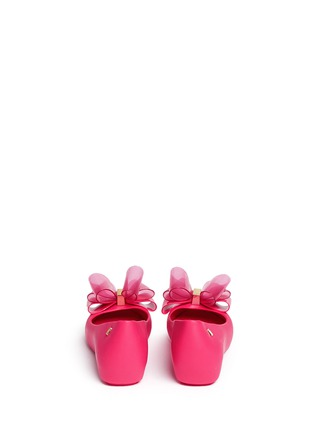 Back View - Click To Enlarge - Melissa - 'Ultragirl Sweet X' bow ballerina flats