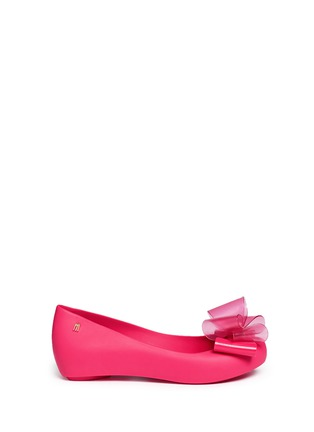 Main View - Click To Enlarge - Melissa - 'Ultragirl Sweet X' bow ballerina flats