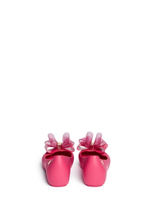 Back View - Click To Enlarge - Melissa - 'Ultragirl Sweet Ballerina' bow kids flats