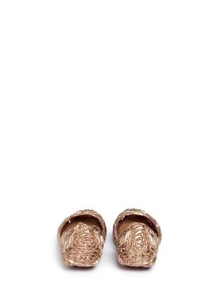 Back View - Click To Enlarge - Melissa - x Campana 'Fitas II' rose PVC flats