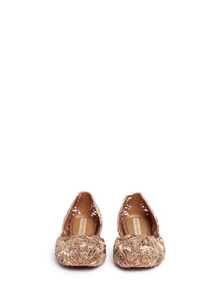 Front View - Click To Enlarge - Melissa - x Campana 'Fitas II' rose PVC flats